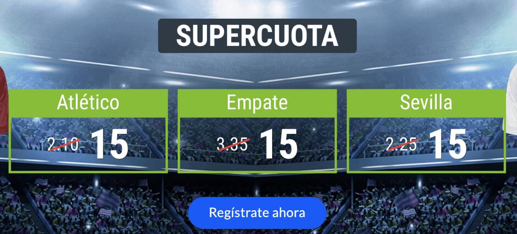 Supercuotas Codere La Liga : Atlético de Madrid - Sevilla .