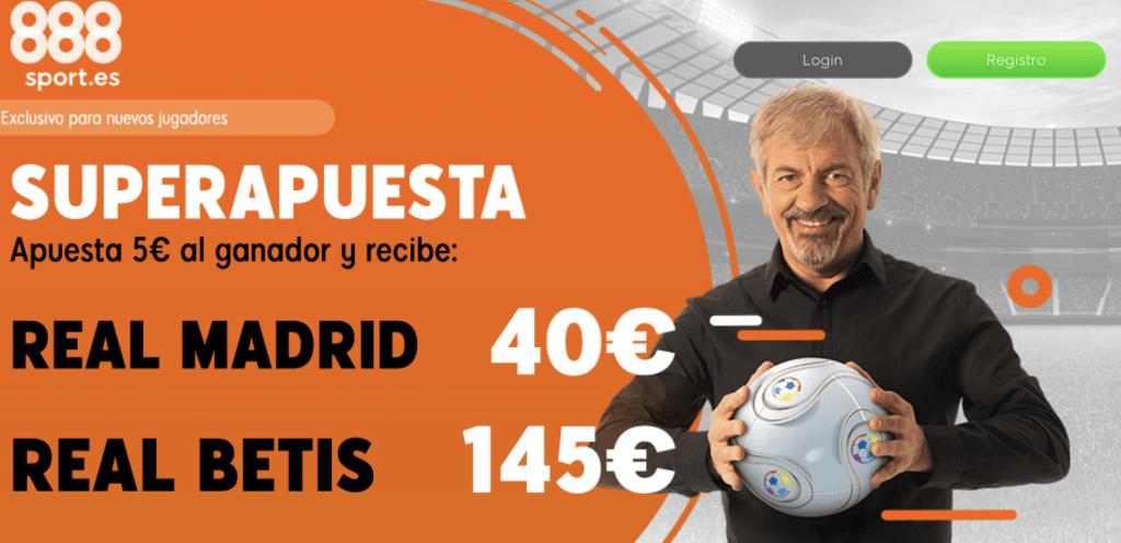 Supercuotas 888sport La Liga : Real Madrid - Real Betis.