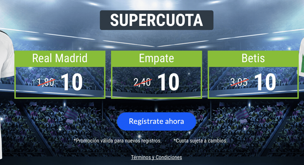 Supercuotas Codere Liga : Real Madrid - Real Betis.