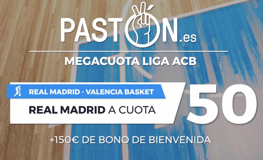 Supercuota pastón Liga ACB Real Madrid gana a Valencia Basket a cuota 50.