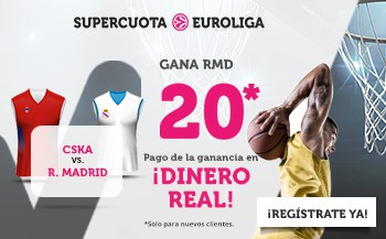 Supercuota wanabet Final Four Euroliga : Real Madrid gana al CSKA a cuota 20.