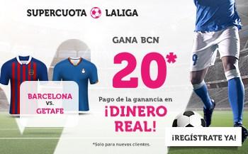 Supercuota Wanabet La Liga : FC Barcelona gana al Getafe a cuota 20.