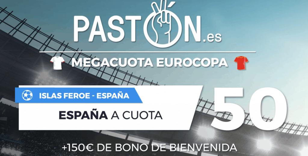 Supercuota pastón España gana a Islas Feroe a cuota 50