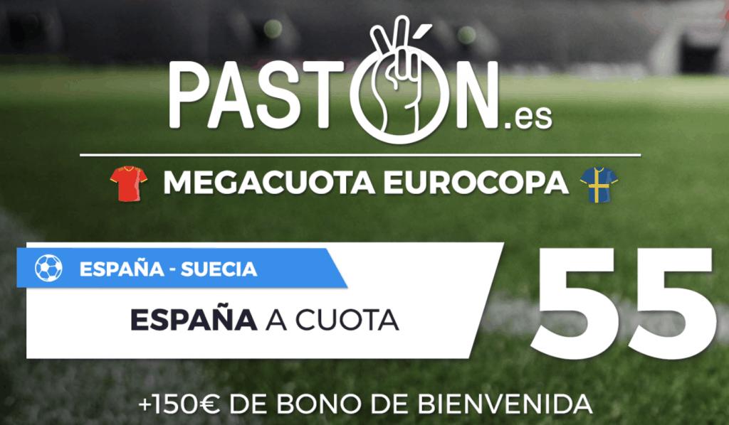 Supercuota Pastón España gana a Suecia a cuota 55.