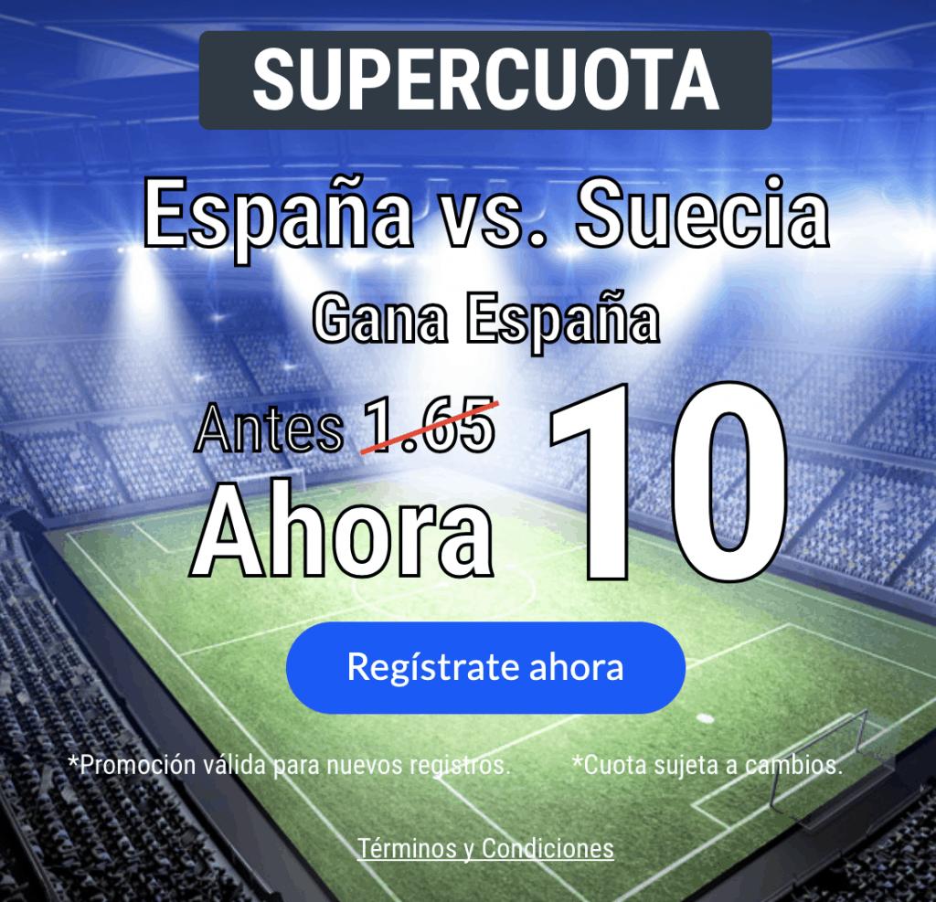 Supercuota Codere España gana a Suecia a cuota 10.