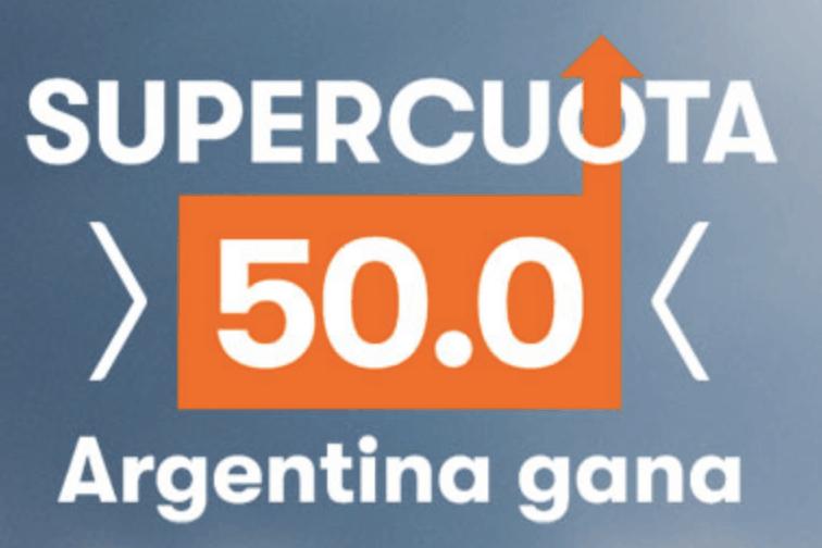 Supercuota Betsson Copa América : Argentina gana a Venezuela a cuota 50.