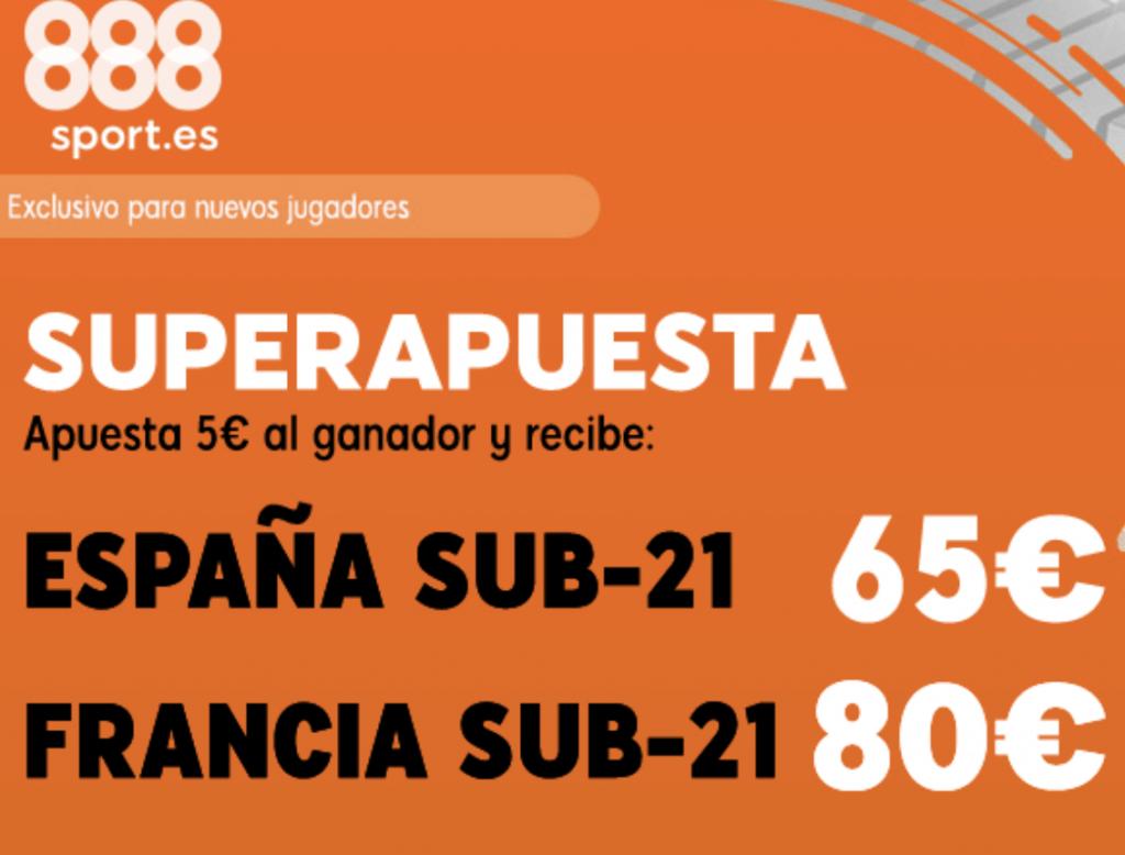 Supercuota 888sport : España - Francia Sub-21