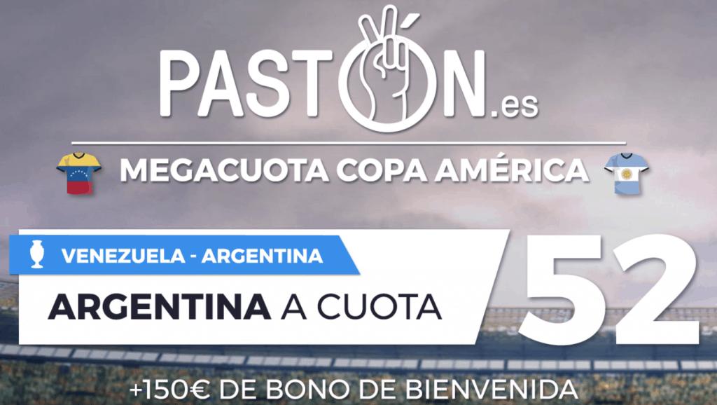 Supercuota pastón Copa América : Argentina gana a Venezuela a cuota 52.