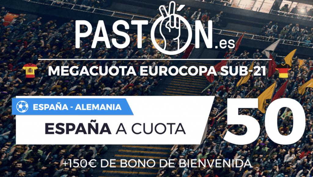 Supercuota pastón Euro Sub 21 : España gana a Alemania a cuota 50.