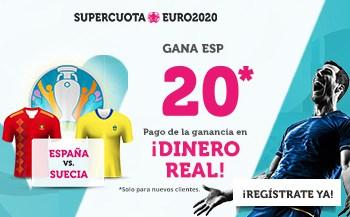 Supercuota Wanabet España gana a Suecia a cuota 20.