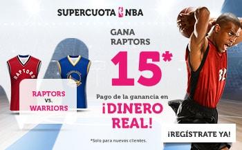 Supercuota Wanabet FInal NBA : Toronto Raptors ganan a Golden State Warriors a cuota 15.
