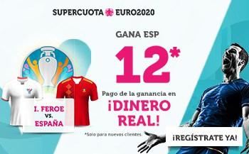 Supercuota Wanabet Euro 2020 : España gana a Islas Feroe a cuota 12.