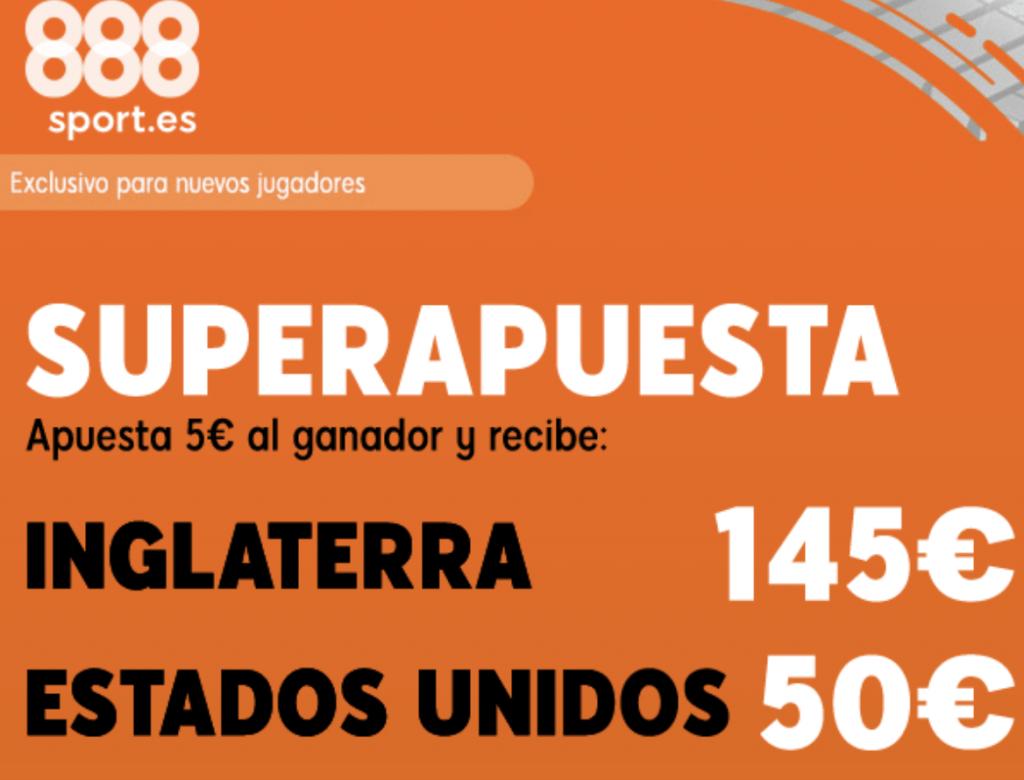 Superapuesta 888sport Inglaterra - Estados Unidos.