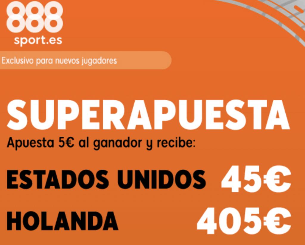 Superapuesta 888sport : Estados Unidos - Holanda