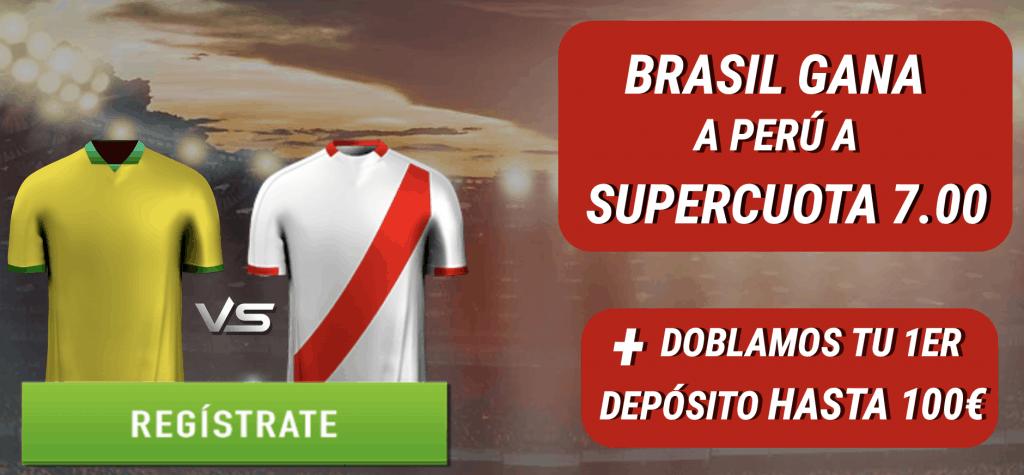 Supercuota Sportium Final Copa América : Brasil gana a Perú a cuota 7.