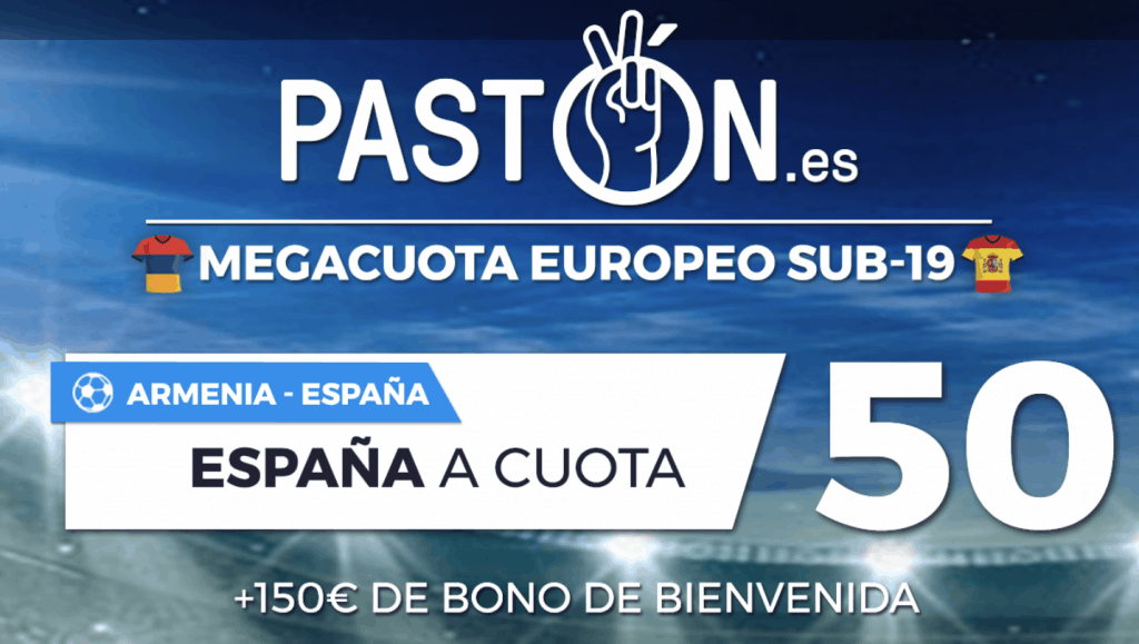 Supercuota pastón Europeo Sub-19 : España gana a Armenia a cuota 50.