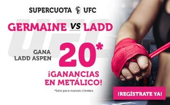 Supercuota Wanabet UFC : Ladd Aspen gana a Randamie Germaine a cuota 20.