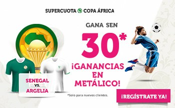 Supercuota Wanabet Final Copa África : Senegal gana a Argelia a cuota 30.