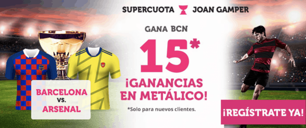 Supercuota Wanabet FC Barcelona gana al Arsenal a cuota 15.