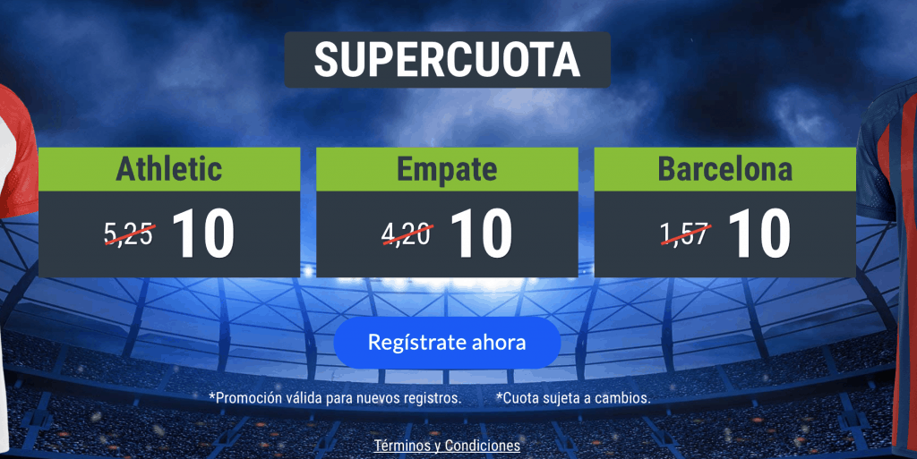 Supercuota Codere La Liga : Athletic - FC Barcelona.