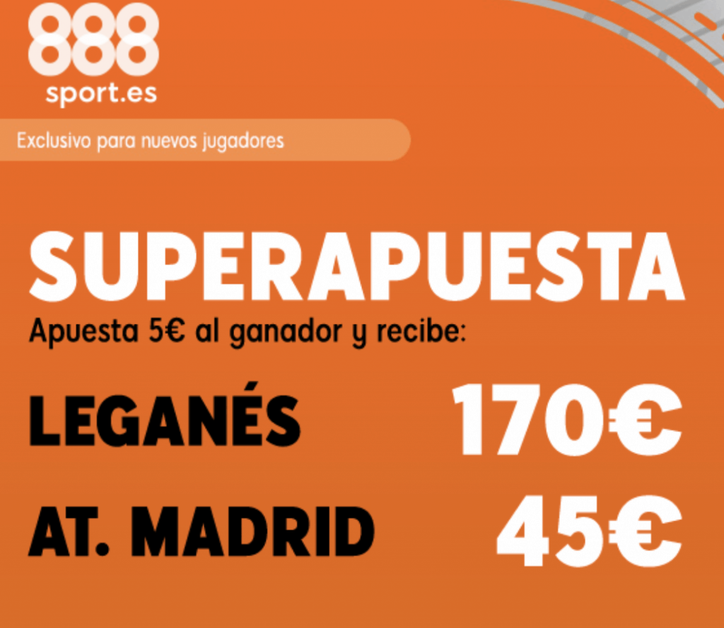 Superapuesta 888sport Leganés - Real Madrid.