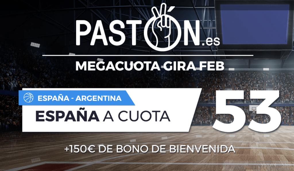 Supercuota pastón baloncesto : España gana a Argentina a cuota 53.