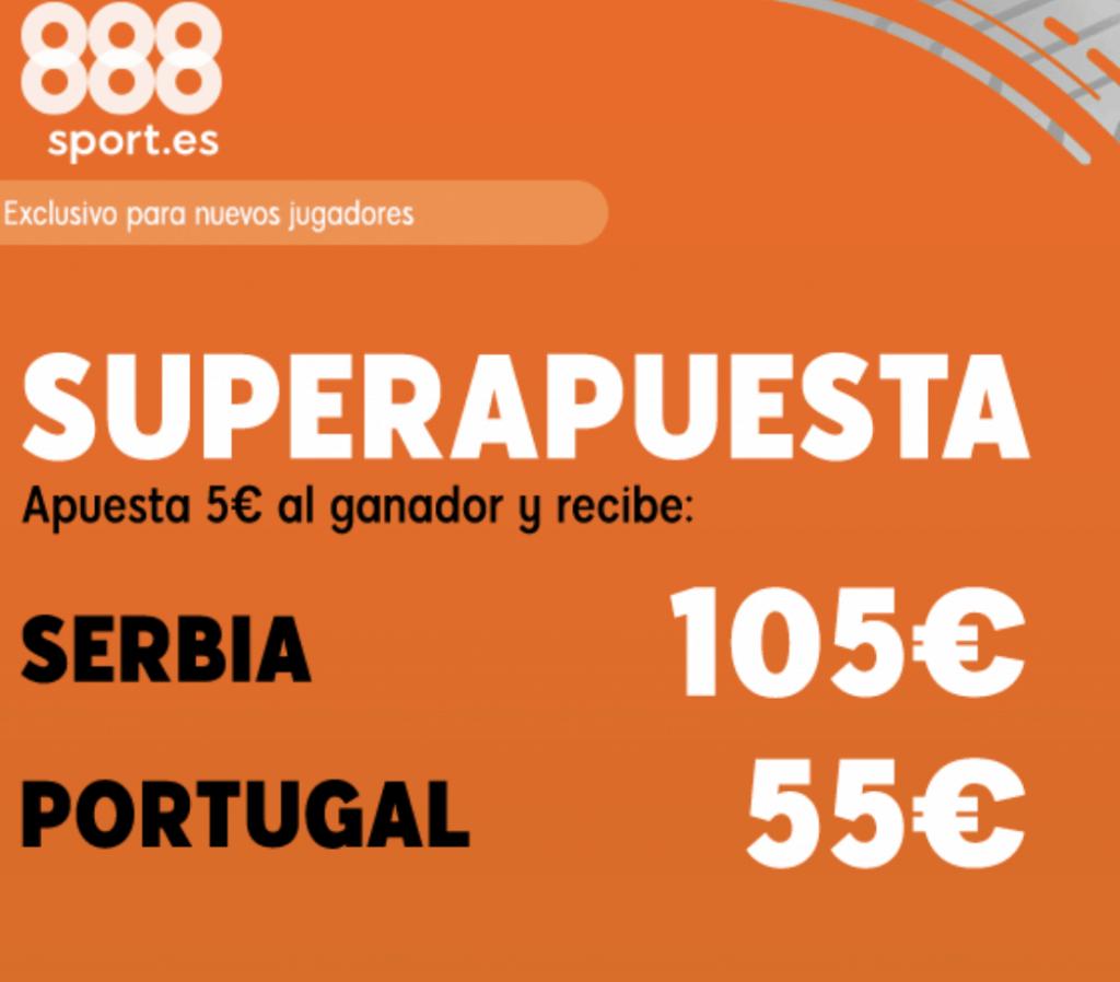 Superapuesta 888sport Euro 2020 : Serbia - Portugal.