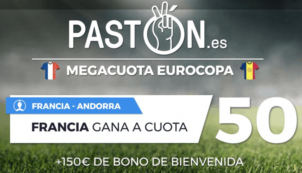 Megacuota pastón Eurocopa : Francia gana a Andorra a cuota 50.