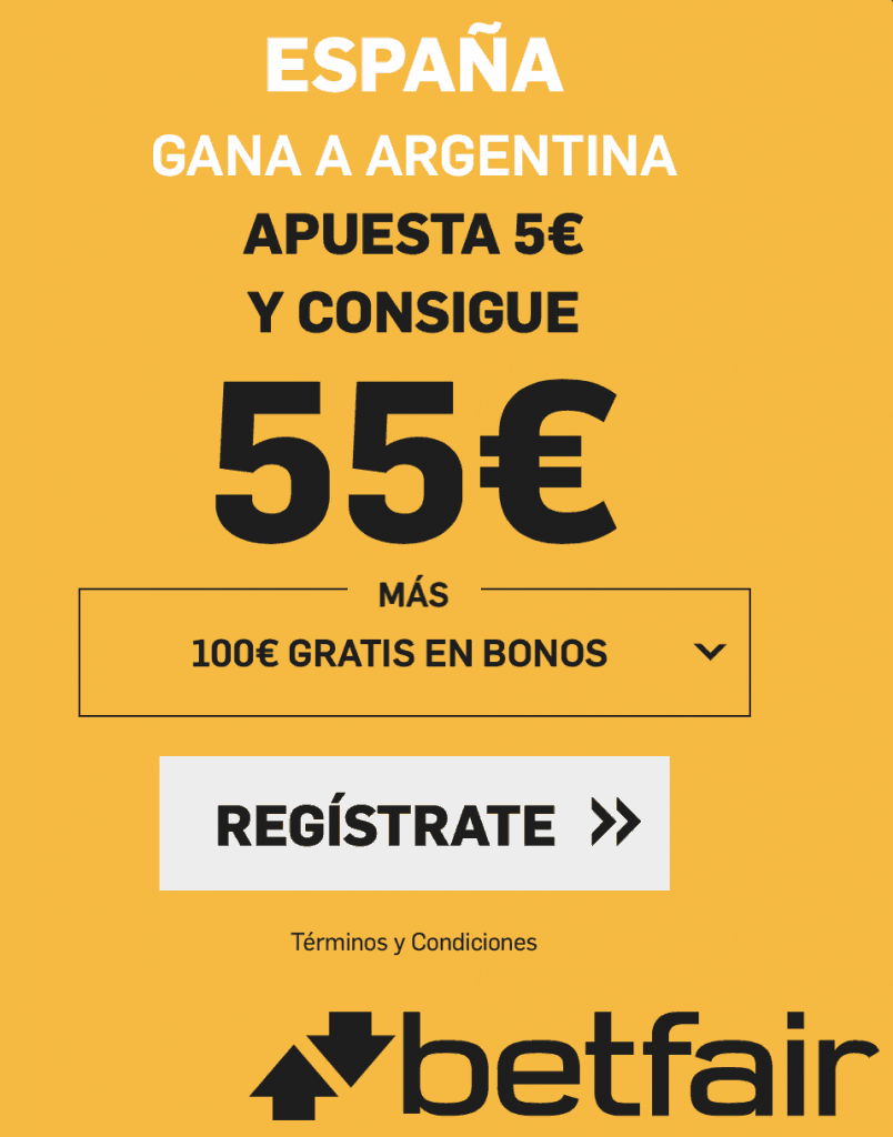 Supercuota betfair Final Mundial Baloncesto : España gana a Argentina a cuota 11.