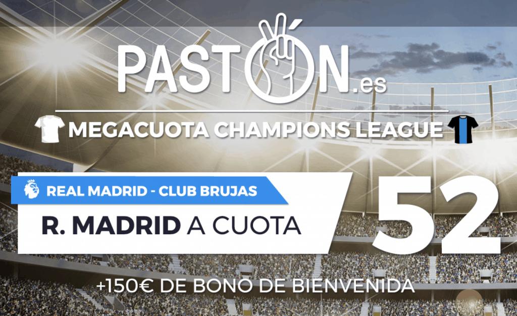 Supercuota pastón Champions League : Real Madrid gana al Brujas a cuota 52.
