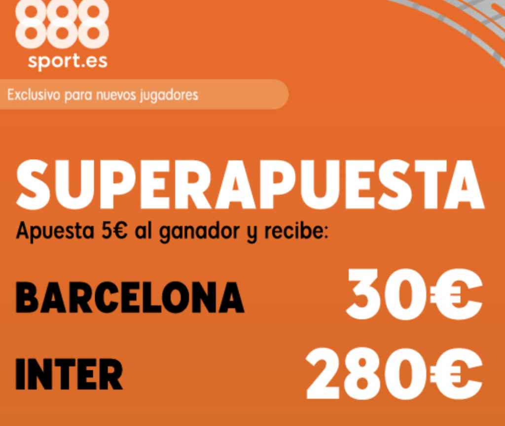 Superapuesta 888sport Champions League : Barcelona - Inter.