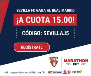 Supercuota Marathonbet : Sevilla gana al Real Madrid a cuota 15