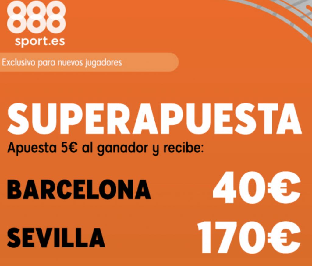 Superapuesta 888sport La Liga : FC Barcelona - Sevilla FC.