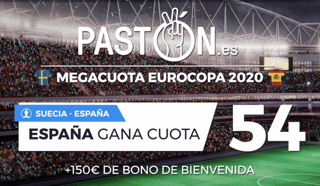 Supercuota pastón : España gana a Suecia a cuota 54.
