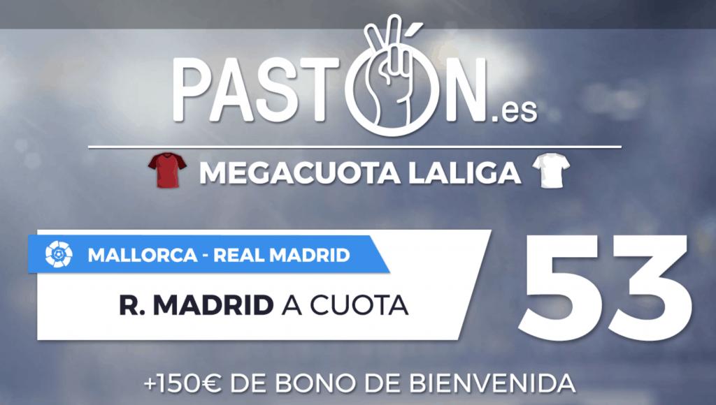 Megacuota pastón Real Madrid gana al Mallorca a cuota 53.