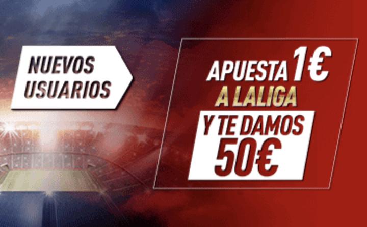 Supercuota Sportium La Liga : Apuesta 1 euro y gana 50 euros.