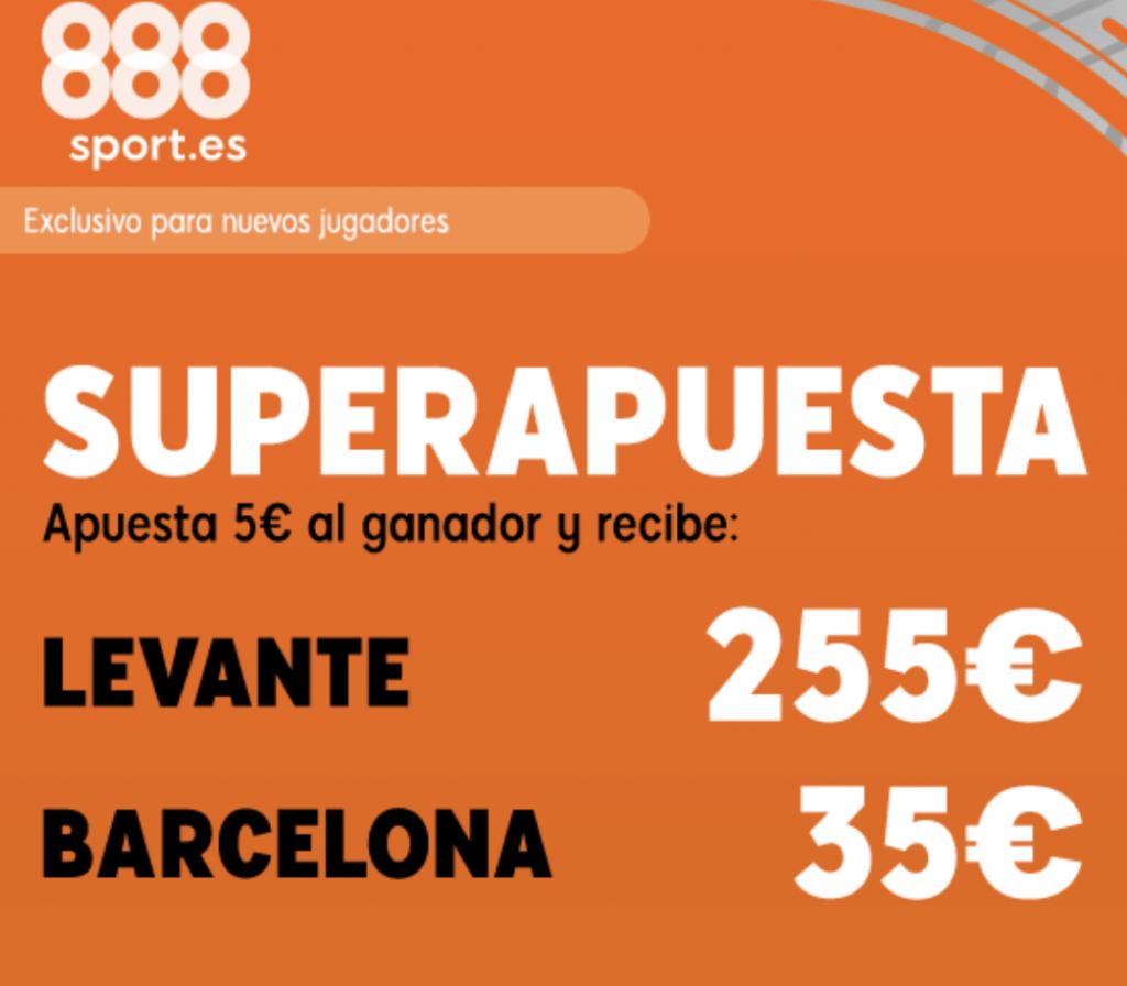 Superapuesta 888sport Levante - FC Barcelona.