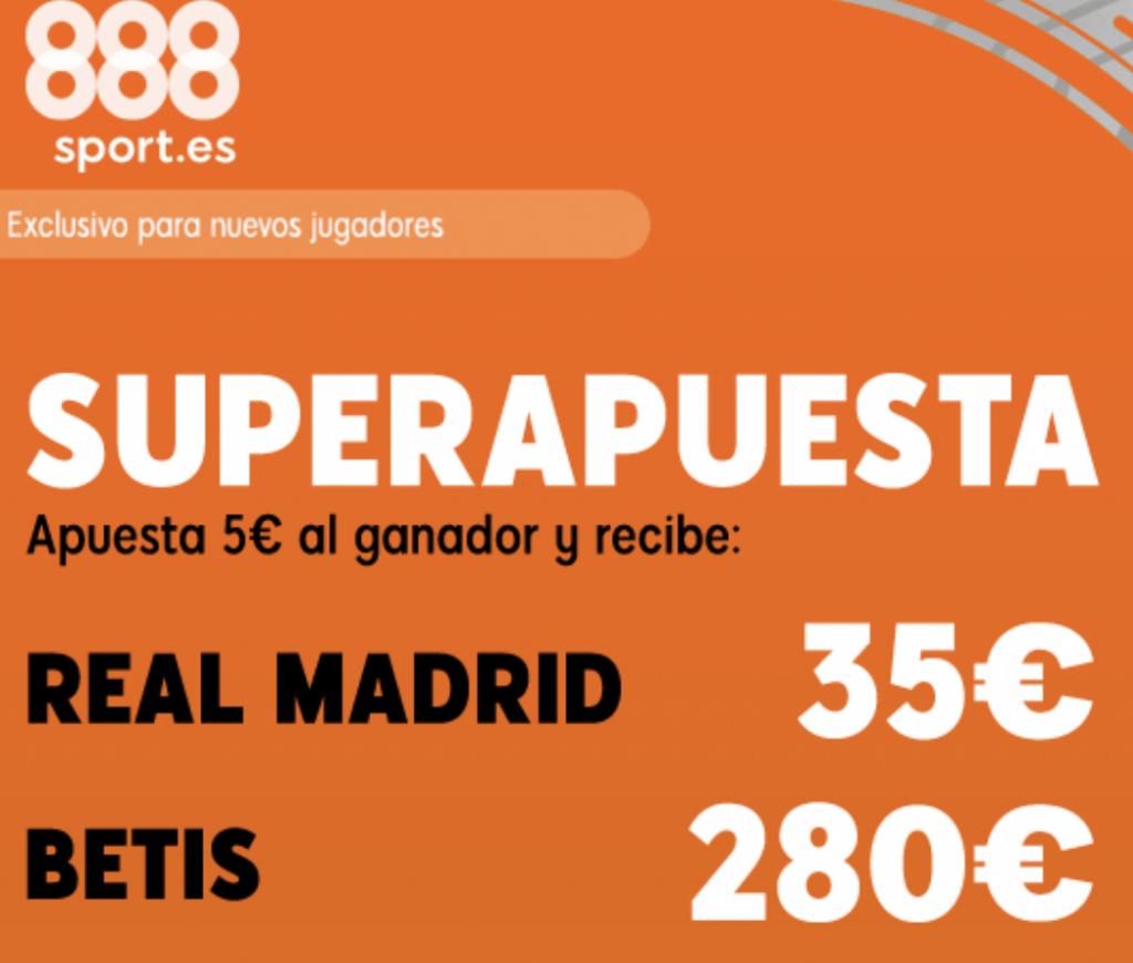 Supercuota 888sport Real Madrid - Real Betis.