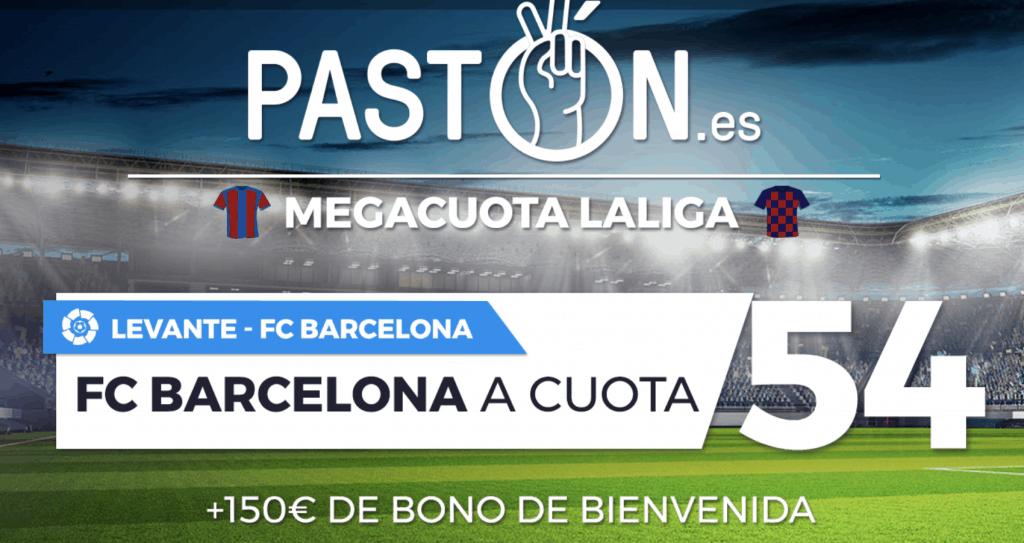 Supercuota Pastón Barcelona gana al Levante a cuota 54.