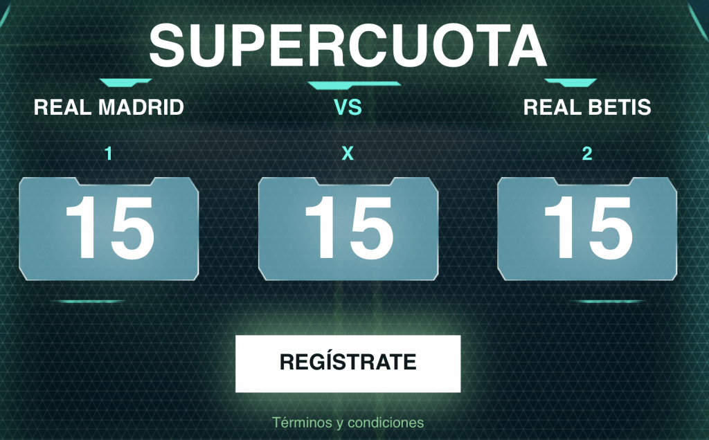 Supercuota Codere Real Madrid - Real Betis.