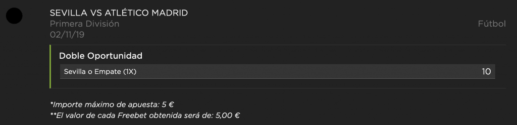 Supercuota Vivelasuerte Sevilla - Atlético de Madrid.