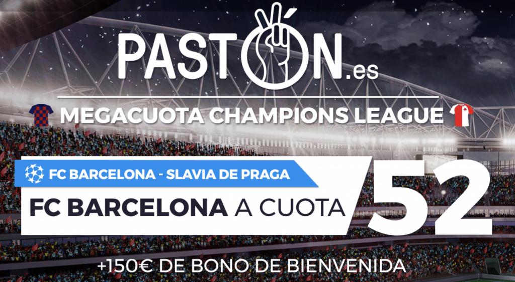 Supercuota pastón Champions League Barcelona gana a Slavia Praga a cuota 52.