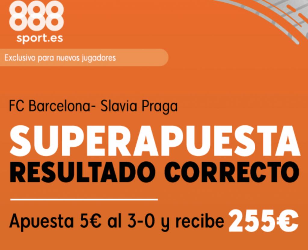 Supercuota 888sport Champions League : Fc Barcelona - Slavia Praga.