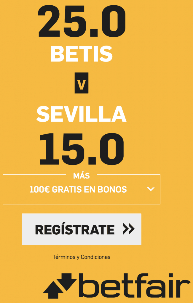Supercuota betfair derbi Real Betis - Sevilla FC.