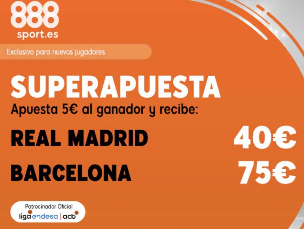 Superapuesta 888sport Euroliga Real Madrid - FC Barcelona.