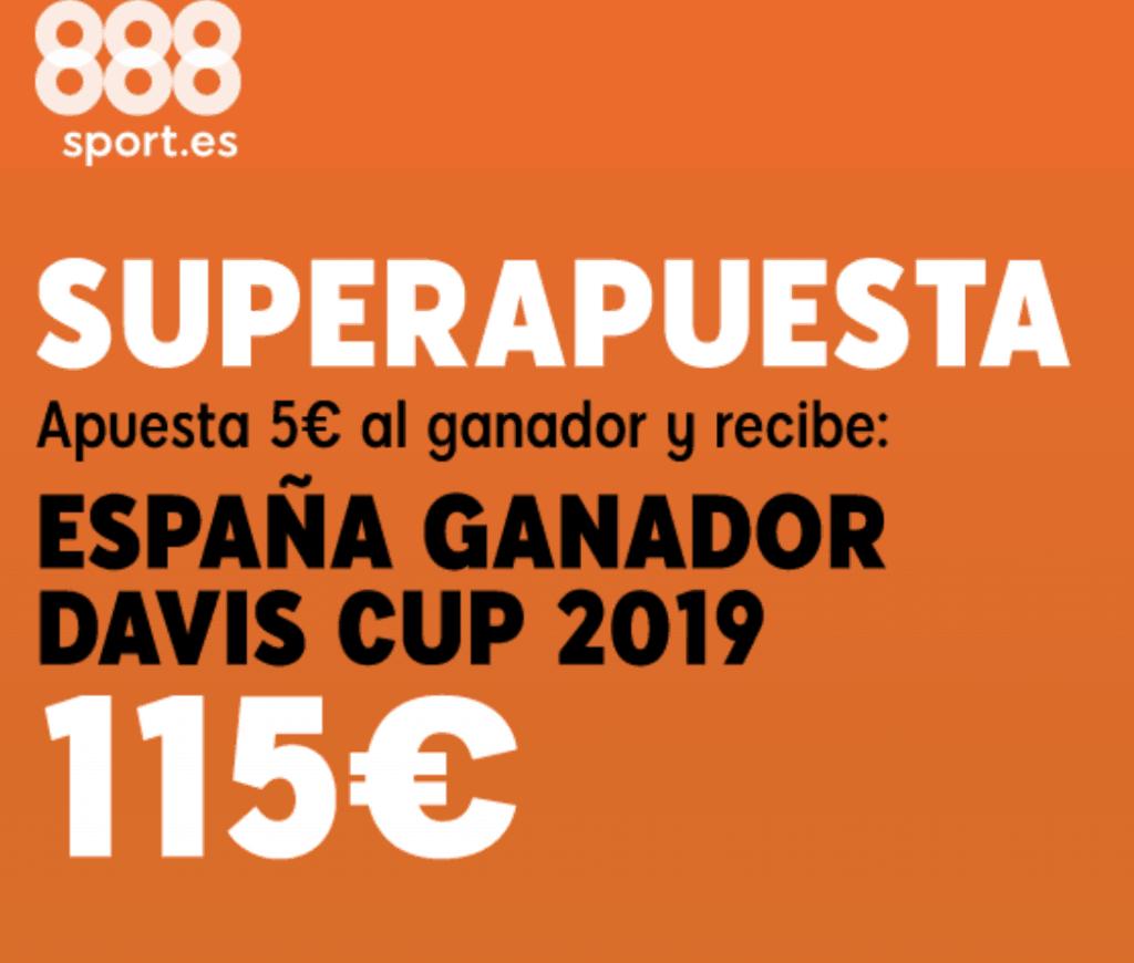 Superapuesta 888sport España gana la Copa Davis a cuota 23.