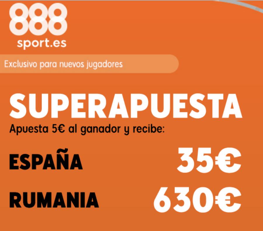 Superapuesta 888sport España - Rumanía.