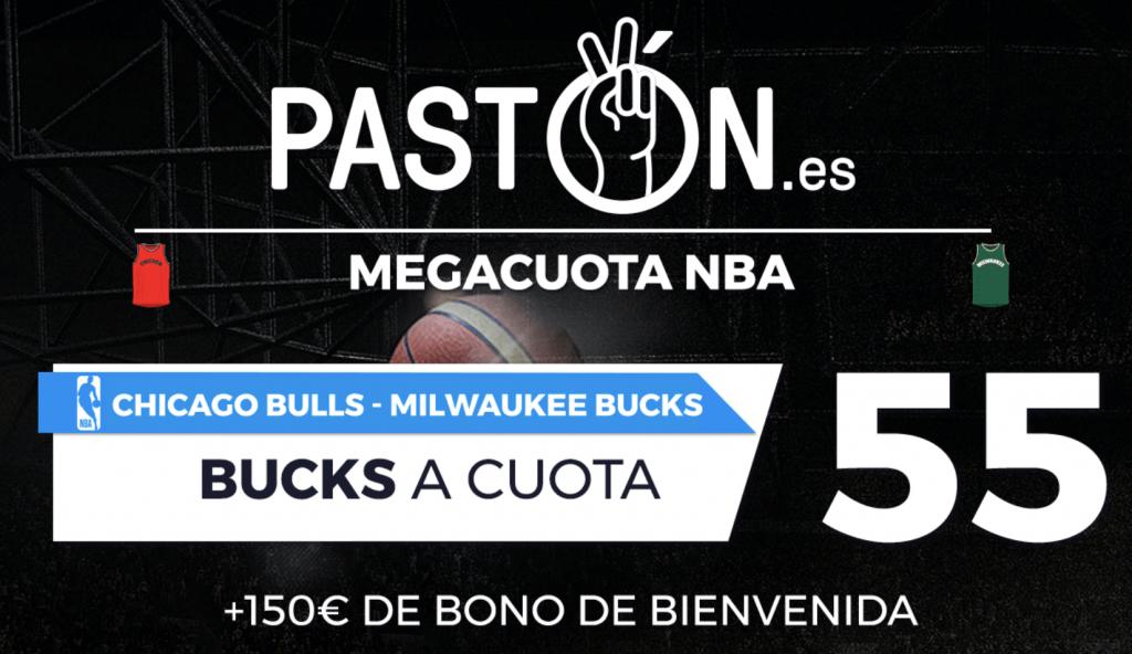 Supercuota pastón NBA Milwaukee Bucks ganan a los Chicago Bulls a cuota 55.