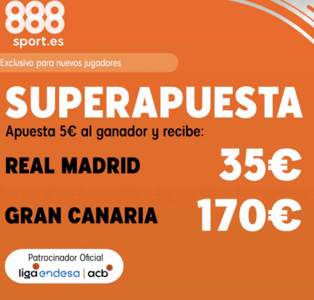 Superapuesta 888sport Real Madrid - Gran Canaria.