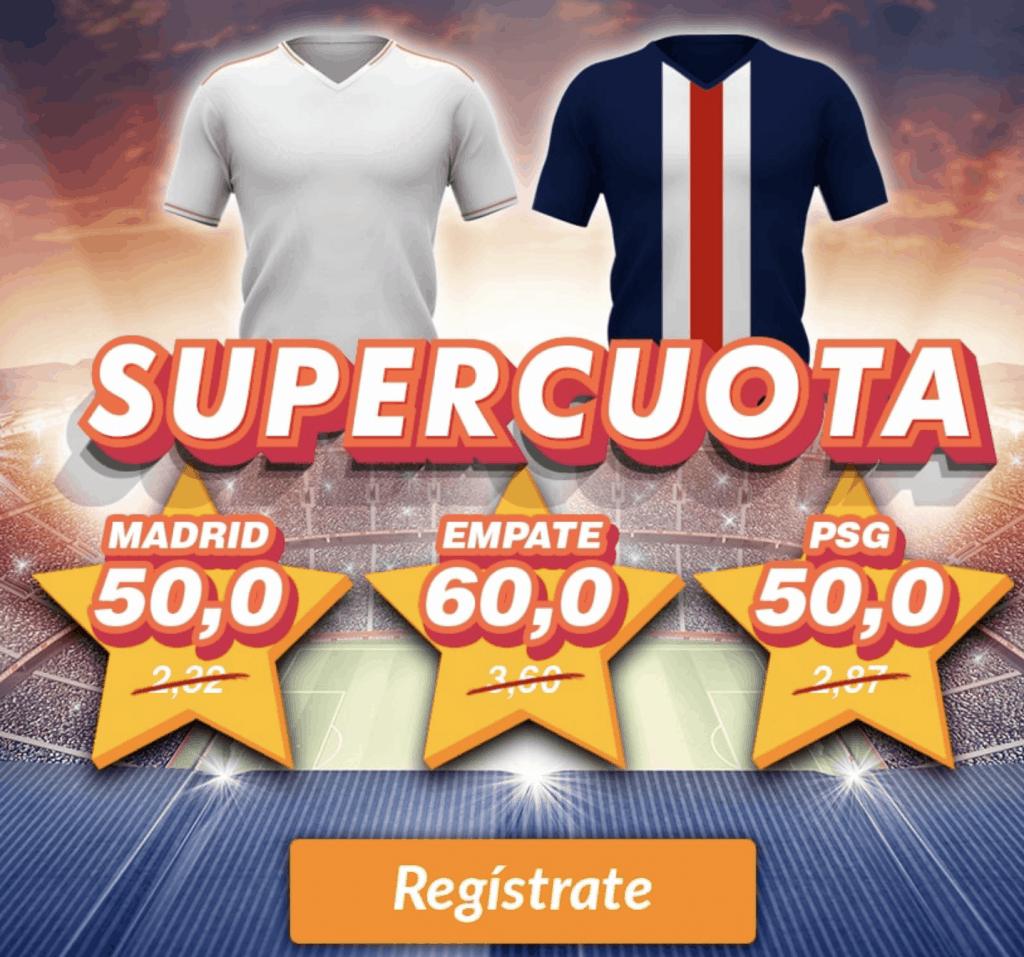 Supercuota Casino Barcelona Champions League : Real Madrid - PSG.